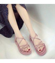 sandalias de mujer correas cruzadas