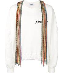 ambush lace detail sweatshirt - white