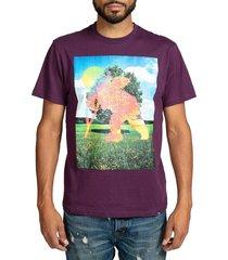 prps men's cherub graphic t-shirt - purple - size xl