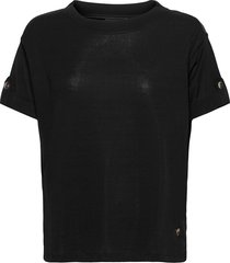 jessa ss tee t-shirts & tops short-sleeved svart mos mosh