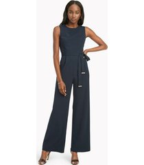 tommy hilfiger women's sleeveless jumpsuit sky captain - 8
