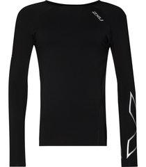 2xu reflective-detailing compression top - black