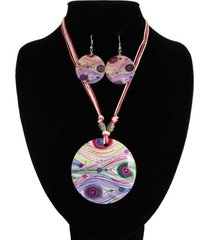 collar nacar lila