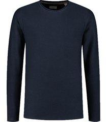 dstrezzed pullover donkerblauw katoen 405304/669
