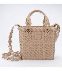 cartera lace bag viktor and rolf casual beige melissa
