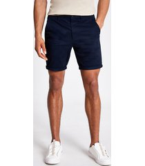 river island mens navy sid skinny chino shorts