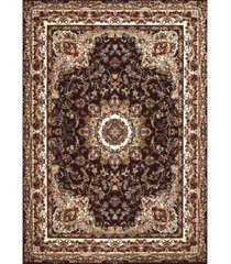 "asbury looms antiquities saraband 1900 01855 58 brown 5'3"" x 7'2"" area rug"