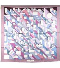 hermes on a summer day silk scarf purple, multi sz: