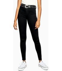 tall black belt loop joni skinny jeans - black