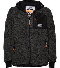 mountain sherpa ziphood hoodie trui grijs superdry