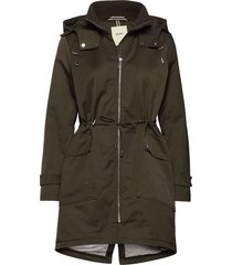 coats woven parka lange jas jas groen esprit casual