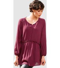 blus dress in fuchsia