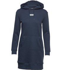 w active hoodie dress knälång klänning blå helly hansen