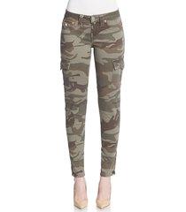 true religion women's camo-print skinny cargo pants - olive - size 24 (0)