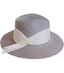 gardenia panama wide band hat