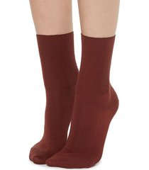 calzedonia short socks in cotton with cashmere woman red size 36-38