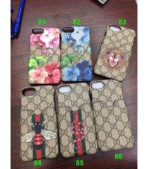 fashion style 2017 card slot gu case cover apple iphone7 iphone8 plus iphonex