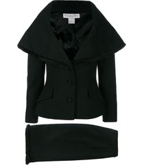 christian dior pre-owned cape-like skirt suit - black