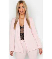 plus tie waist blazer, pink