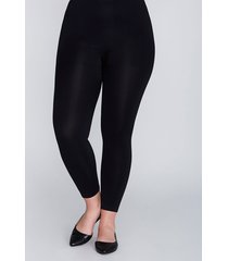 lane bryant women's high-waist smoothing leggings - seamless g-h black