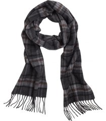 bufanda wool tartan gris brooks brothers