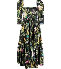 cara cara all-over floral dress - black