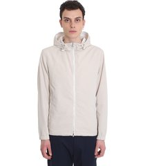 theory casual jacket in beige polyester