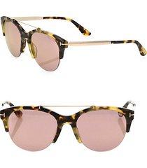 55mm mirrored round sunglasses