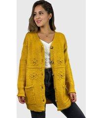 chaleco lana hippie chic amarillo enigmática boutique