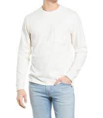 men's madewell relaxed long sleeve organic cotton t-shirt, size xx-large - ivory
