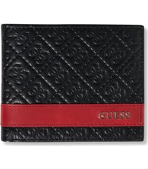 guess men's mesa billfold men's leather wallet
