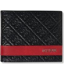 guess men's mesa billfold men's leather wallet