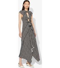 proenza schouler checkered tie dress black/white checker 2