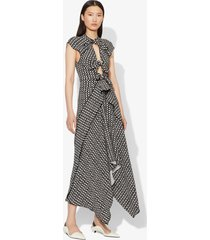 proenza schouler checkered tie dress black/white checker 4