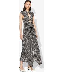 proenza schouler checkered tie dress black/white checker 6