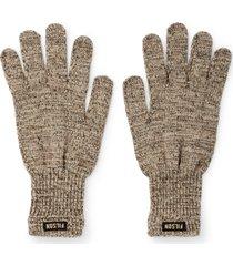 men's filson wool blend knit gloves, size small - beige