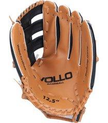 luva de beisebol vollo 12,5 polegadas - adulto - preto/marrom