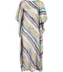 missoni mare fine-knit zigzag dress - blue