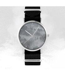 zegarek - into the wild - czarny, nylonowy, unisex