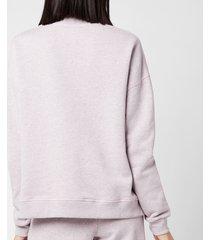 ganni women's isoli sweatshirt - pale lilac - l/xl