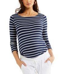 a pea in the pod cotton striped maternity top