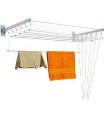 varal prático em aço para teto/parede 120,5x56cm branco