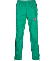 off-white side strap track pants - green