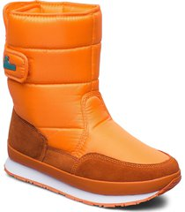 rd classic snowjogger solid shoes boots ankle boots ankle boot - flat orange rubber duck