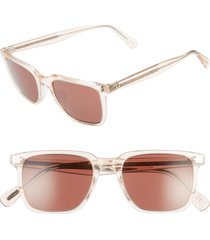 women's oliver peoples lachman 50mm rectangle sunglasses - light silk/ rosewood