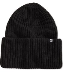 block hats men's wide cuff ribbed beanie