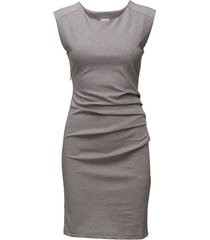 india round-neck dress jurk knielengte grijs kaffe