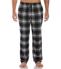 perry ellis men's relaxed-fit large plaid flannel pajama pants