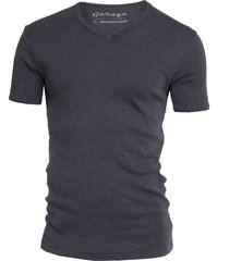 garage basis t-shirt v-hals semi bodyfit antraciet