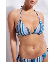 calzedonia graduated triangle top swimsuit dubai woman blue size 4